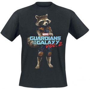 Camiseta de pose de Rocket - Las mejores camisetas de Rocket de Guardianes de la Galaxia - Camisetas de Marvel