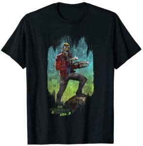 Camiseta de pose de Star Lord - Las mejores camisetas de Star-Lord de Guardianes de la Galaxia - Camisetas de Marvel