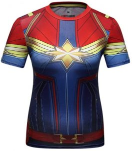 Camiseta de traje de Capitana Marvel - Las mejores camisetas de Capitana Marvel - Camisetas de Marvel