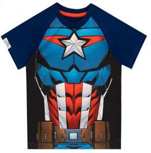 Camiseta del Capitán América cuerpo para niños - Las mejores camisetas del Capitán América - Camisetas de Marvel