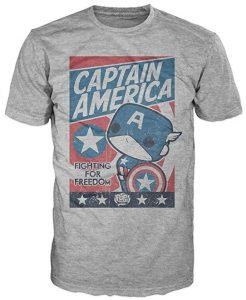 Camiseta del Captain America FUNKO - Las mejores camisetas del Capitán América - Camisetas de Marvel