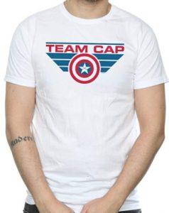 Camiseta del Captain America de Team Cap - Las mejores camisetas del Capitán América - Camisetas de Marvel