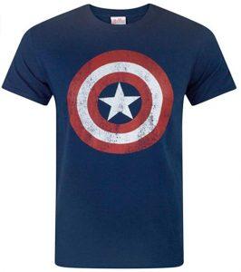 Camiseta del escudo del Capitán América - Las mejores camisetas del Capitán América - Camisetas de Marvel