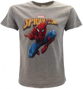 Camiseta gris de Spiderman - Las mejores camisetas de Spiderman -Spider-man - Camisetas de Marvel