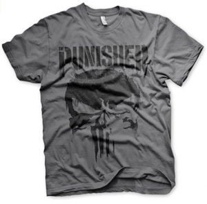 Camiseta gris de The Punisher - Las mejores camisetas de The Punisher - Camisetas de Marvel
