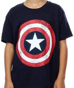 Camiseta negra del escudo del Capitán América - Las mejores camisetas del Capitán América - Camisetas de Marvel