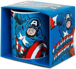 Taza con diseño original de Capitán América - Las mejores tazas de Capitán América - Tazas de Marvel