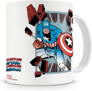 Taza con licencia oficial de Capitán América - Las mejores tazas de Capitán América - Tazas de Marvel