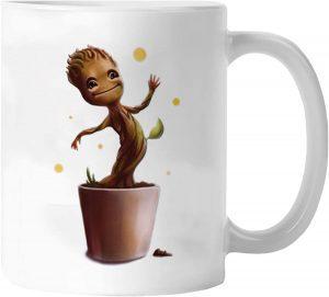 Taza de Baby Groot dancing - Las mejores tazas de Groot - Tazas de Marvel