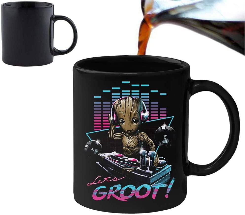 Taza de DJ Groot - Las mejores tazas de Groot - Tazas de Marvel