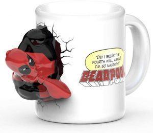 Taza de Deadpool escapando - Las mejores tazas de Deadpool - Tazas de Marvel