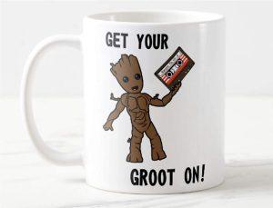 Taza de Get Your Groot On - Las mejores tazas de Groot - Tazas de Marvel