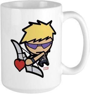 Taza de Hawkeye con corazón - Las mejores tazas de Hawkeye - Ojo de Halcón - Tazas de Marvel