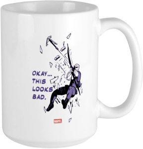 Taza de Hawkeye disparando - Las mejores tazas de Hawkeye - Ojo de Halcón - Tazas de Marvel
