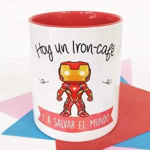 Taza de Iron Cafe - Las mejores tazas de Iron-man - Tazas de Marvel