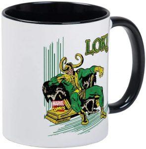 Taza de Loki sentado - Las mejores tazas de Loki - Tazas de Marvel