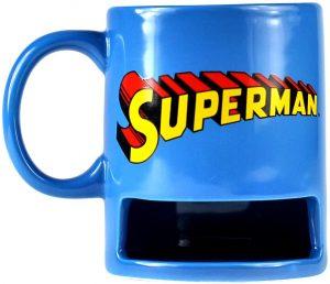 Taza de Superman con galleta - Las mejores tazas de Superman - Tazas de DC