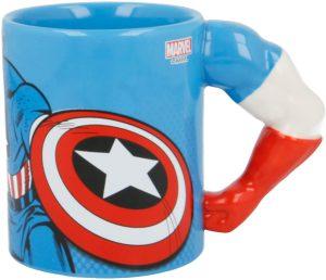 Taza de brazo de Capitán América - Las mejores tazas de Capitán América - Tazas de Marvel