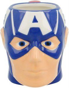 Taza de cabeza de Capitán América - Las mejores tazas de Capitán América - Tazas de Marvel
