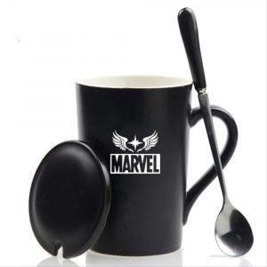 Taza de café con tapa de Capitana Marvel - Las mejores tazas de Capitana Marvel - Tazas de Marvel