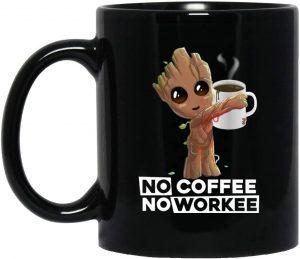 Taza de café de Groot - Las mejores tazas de Groot - Tazas de Marvel