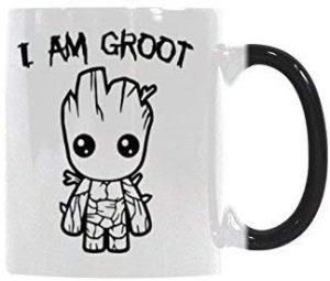 Taza de cambio de color de I am Groot - Las mejores tazas de Groot - Tazas de Marvel