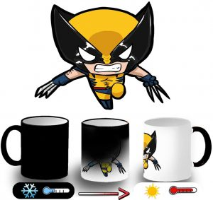 Taza de cambio de color de Lobezno - Las mejores tazas de Lobezno - Tazas de Marvel