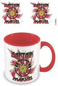 Taza de cerámica de Capitana Marvel roja - Las mejores tazas de Capitana Marvel - Tazas de Marvel
