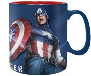Taza de cerámica gigante de Capitán América - Las mejores tazas de Capitán América - Tazas de Marvel