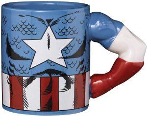 Taza de cuerpo de Capitán América - Las mejores tazas de Capitán América - Tazas de Marvel