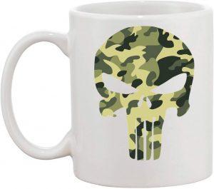 Taza de logo de Punisher de camuflaje - Las mejores tazas de The Punisher - Tazas de Marvel