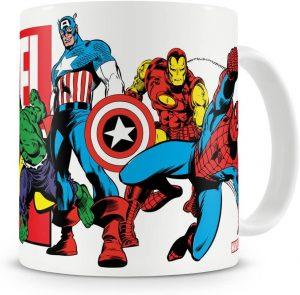 Taza de los vengadores con el Capitán América - Las mejores tazas de Capitán América - Tazas de Marvel