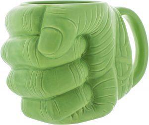 Taza de mano de Hulk de cerámica - Las mejores tazas de Hulk - Tazas de Marvel