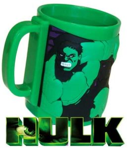 Taza de plástico de Hulk verde - Las mejores tazas de Hulk - Tazas de Marvel