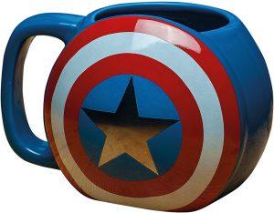 Taza del escudo de Capitán América - Las mejores tazas de Capitán América - Tazas de Marvel