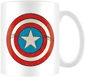 Taza del escudo de Capitán América retro - Las mejores tazas de Capitán América - Tazas de Marvel