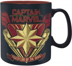 Taza del escudo de Capitana Marvel - Las mejores tazas de Capitana Marvel - Tazas de Marvel
