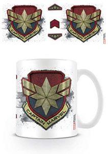 Taza del logo de Capitana Marvel - Las mejores tazas de Capitana Marvel - Tazas de Marvel