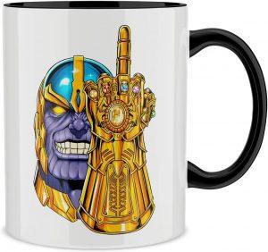 Taza parodia del Guantelete del Infinito de Thanos - Las mejores tazas de Thanos - Tazas de Marvel