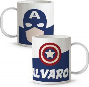 Taza personalizada de Capitán América - Las mejores tazas de Capitán América- Tazas de Marvel