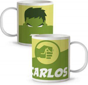 Taza personalizada de Hulk verde - Las mejores tazas de Hulk - Tazas de Marvel