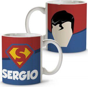 Taza personalizada de Superman - Las mejores tazas de Superman - Tazas de DC