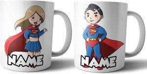 Taza personalizada de dibujo de Superman - Las mejores tazas de Superman - Tazas de DC