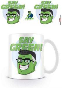 Vaso de Say Green de Hulk - Las mejores tazas de Hulk - Tazas de Marvel