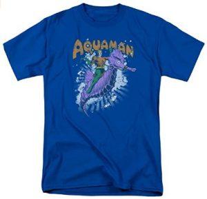Camiseta de Aquaman diseño caballito de mar - Las mejores camisetas de Aquaman - Camiseta de Aquaman de DC