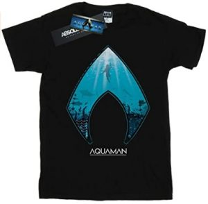 Camiseta de logo de Aquaman con agua - Las mejores camisetas de Aquaman - Camiseta de Aquaman de DC