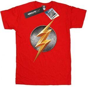 Camiseta de logo de Flash de Justice League - Las mejores camisetas de Flash - Camiseta de The Flash de DC