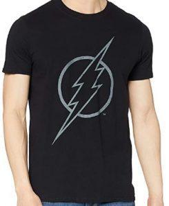 Camiseta de logo de Flash negro - Las mejores camisetas de Flash - Camiseta de The Flash de DC