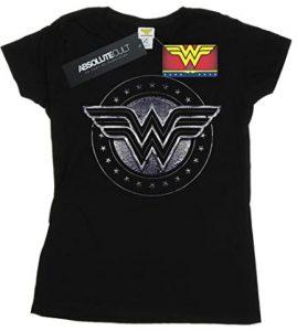 Camiseta de logo escudo de Wonder Woman - Las mejores camisetas de Wonder Woman - Camiseta de Wonder Woman de DC