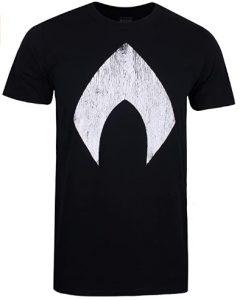 Camiseta de logo negro de Aquaman con agua - Las mejores camisetas de Aquaman - Camiseta de Aquaman de DC